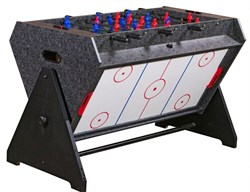 Стол-трансформер «Vortex 3-in-1» (3 игры: аэрохоккей, футбол, бильярд) серый - фото 13033