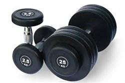 Гантельный ряд DB182 от 2,5 до 25 кг - фото 13149