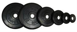 Диски обрезиненные Barbell черные, вес от 1,25 до 25 кг в ассортименте - фото 14395