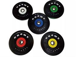 Диски бамперные Grome Fitness WP-080 от 5 до 25 кг в ассортименте - фото 21208