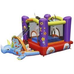 Надувной батут с горкой Happy Hop Динозаврик 9122 - фото 7051