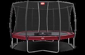 Батут Berg Elite+ Red 430 с защитной сетью T-series (комплект)