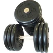 Комплект гантелей фиксированных MB «Проф» от 33,5 до 41 кг черные