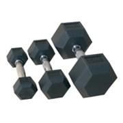 Комплект гантелей «JOHNS» 72014 гексагональные от 12,5 до 20 кг