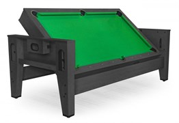 Cтол-трансформер «Twister» 3 в 1 (бильярд, аэрохоккей, настольный теннис) черный