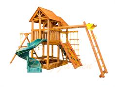 Игровая площадка PlayGarden SkyFort II стандарт со спиральной горкой и рукоходом