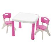 Детский столик со стульями розовый Step-2