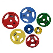 Диски Grome Fitness WP074 Color с тройным хватом от 1,25 до 25 кг в ассортименте
