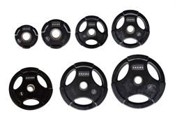 Диски Grome Fitness WP074 Black с тройным хватом от 1,25 до 25 кг в ассортименте