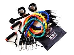 Набор эспандеров трубчатых в защитных чехлах (5 шт.) и аксессуаров в сумке