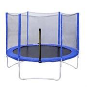 Батут с сеткой DFC Trampoline Fitness 6 ft голубой