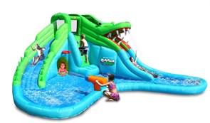Надувная Водная горка Happy Hop Крокодил 9517