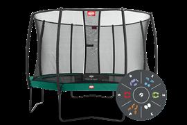 Батут Berg Champion Tattoo 430 + защитная сеть Safety Net Deluxe (комплект)