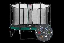 Батут Berg Champion Tattoo 430 + защитная сеть Safety Net Comfort (комплект)