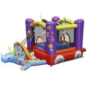 Надувной батут с горкой Happy Hop Динозаврик 9122