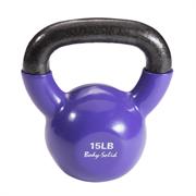 Гиря 6,8 кг (15lb) обрезиненная фиолетовая